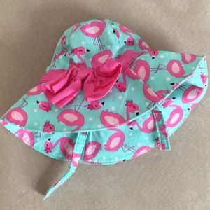 Gymboree Pink Flamingo Sun Hat 0-3 month